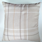 "Cushion Cover in Next Natural Soft Check Tartan 16"" Matches Curtains"